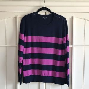 ✨GAP Navy & Purple Sweater w/Shoulder Detail